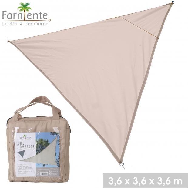 Farniente schaduwdoek driehoek 3,6x3,6x3,6 - Beige Beige One