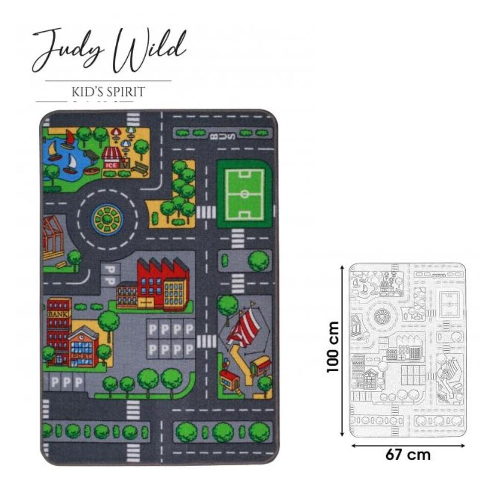 Judy Wild verkeerskleed 67 x 100 cm Groen One