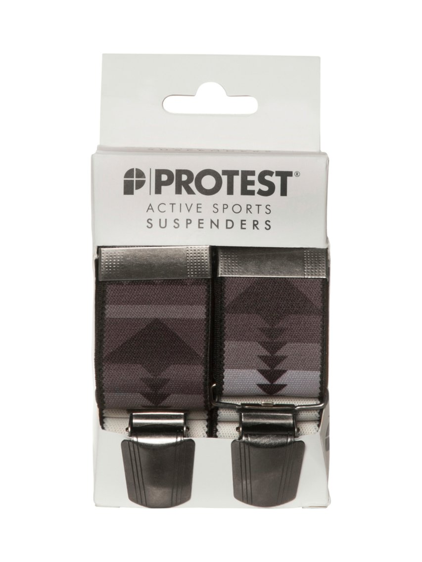 Protest M Rawton Suspenders Donkergrijs One