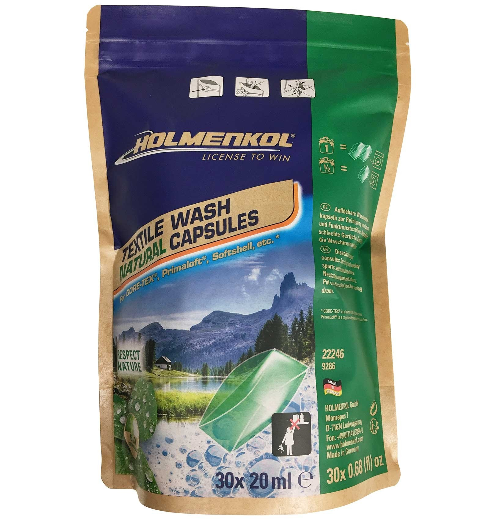Holmenkol Textile Wash Natural Capsules 30